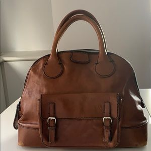 Chloe Large Edith Weekend bowler, Whiskey Brown